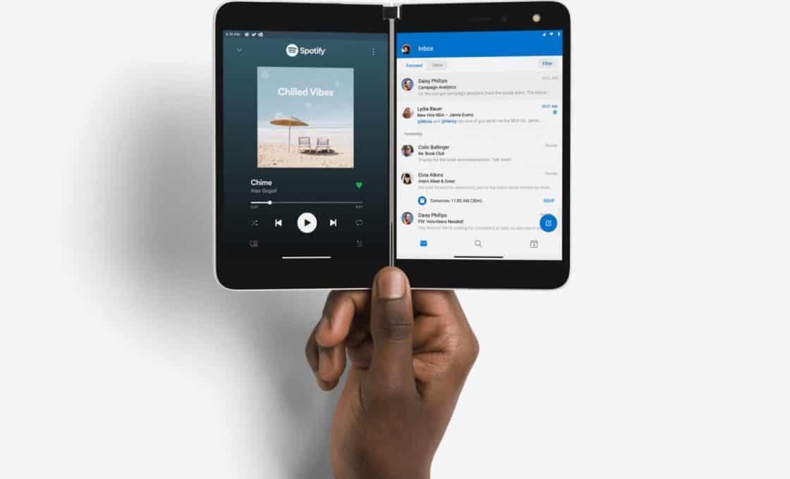 Surface duo thiết bị lai phone và tablet