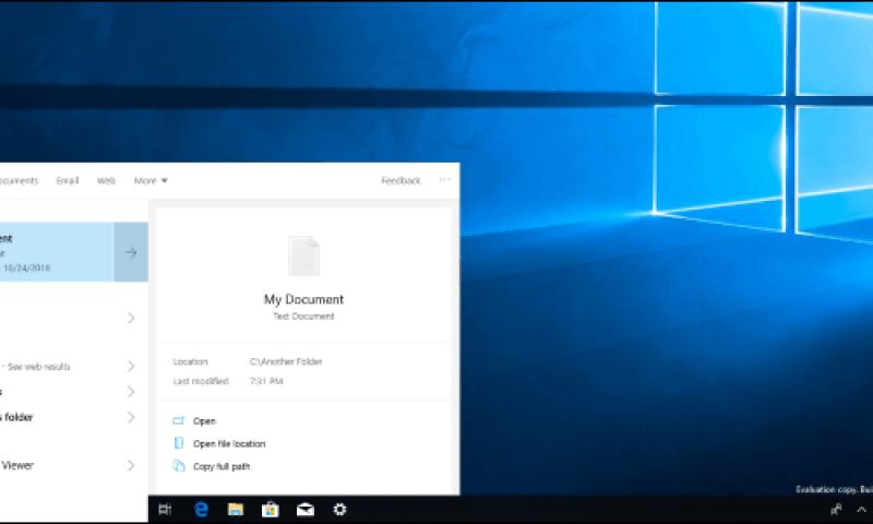 Tăng tốc độ tìm kiếm với tìm kiếm nội bộ trên Windows 10