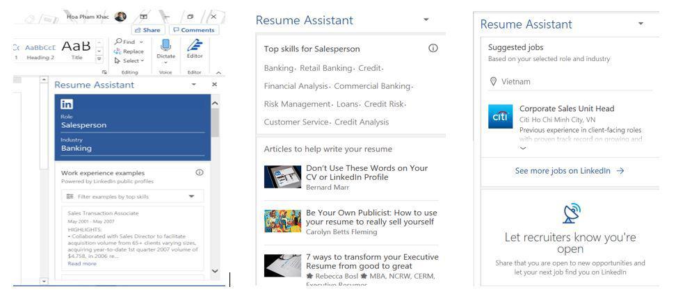 Smart Resume trên Word