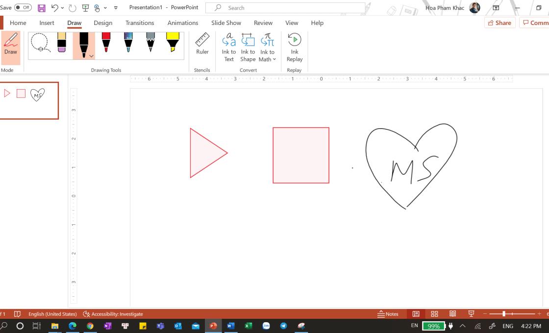 Inking trên PowerPoint