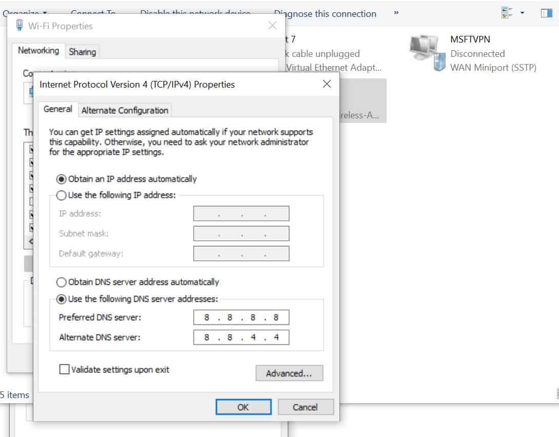 Lỗi Wifi trên Windows 10 2004