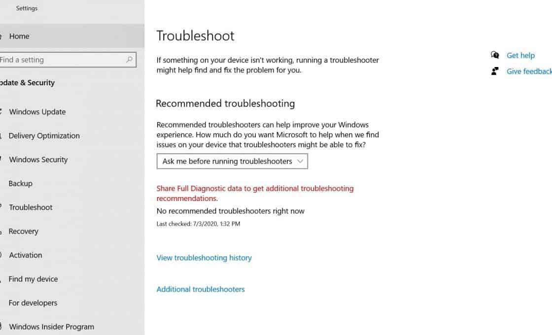 Lỗi Update Windows
