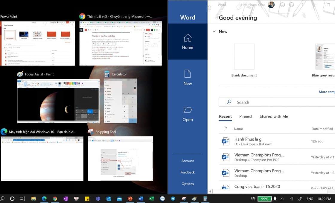 Chia màn hình trên Windows 10