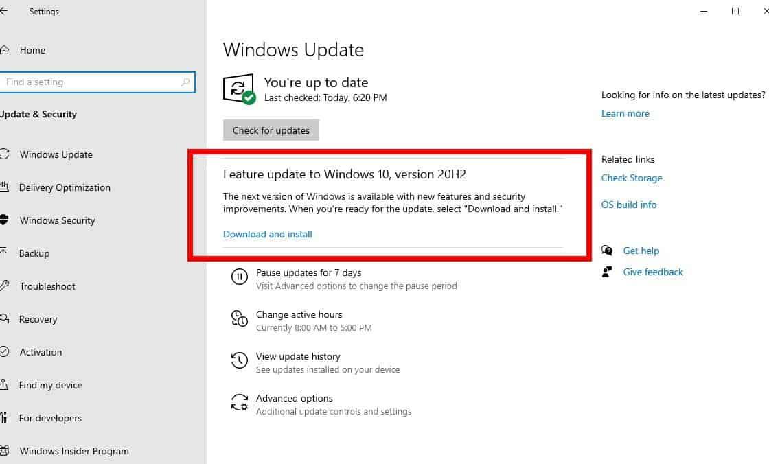 Cập nhật Windows tháng 10