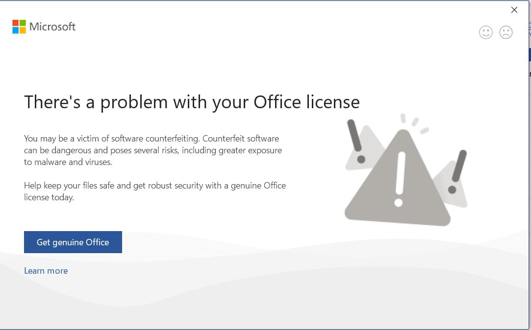 Lỗi kích hoạt bản quyền Office
