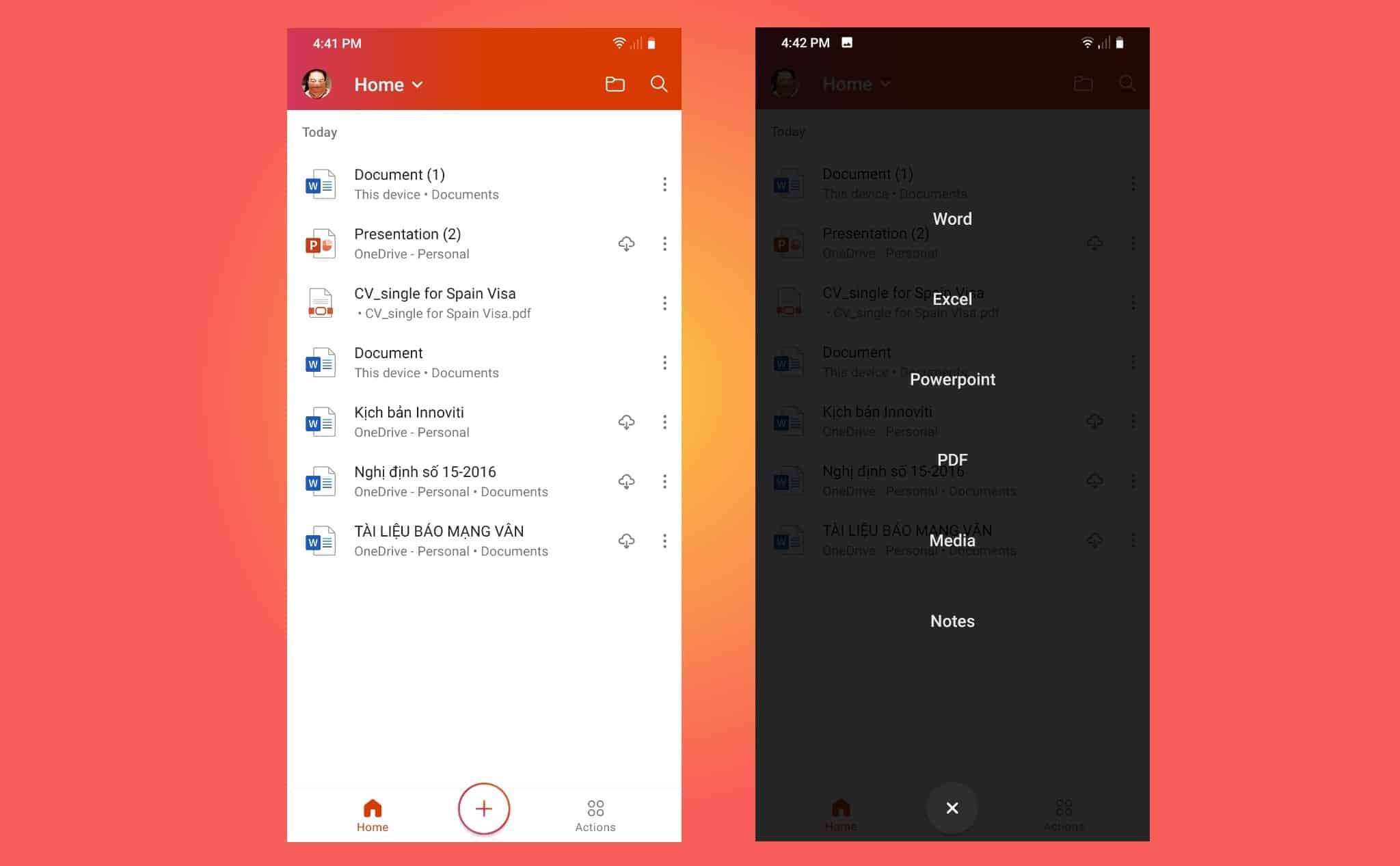 Trải nghiệm Office mới trên Android