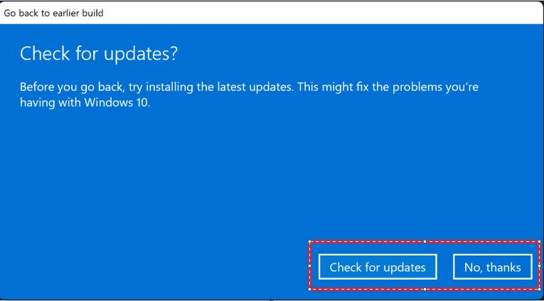 Hướng dẫn hạ cấp Windows 11