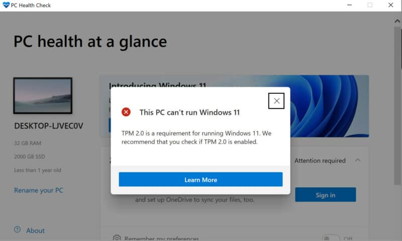 Không thể nâng cấp lên Windows 11? Tất cả những điều bạn cần biết!